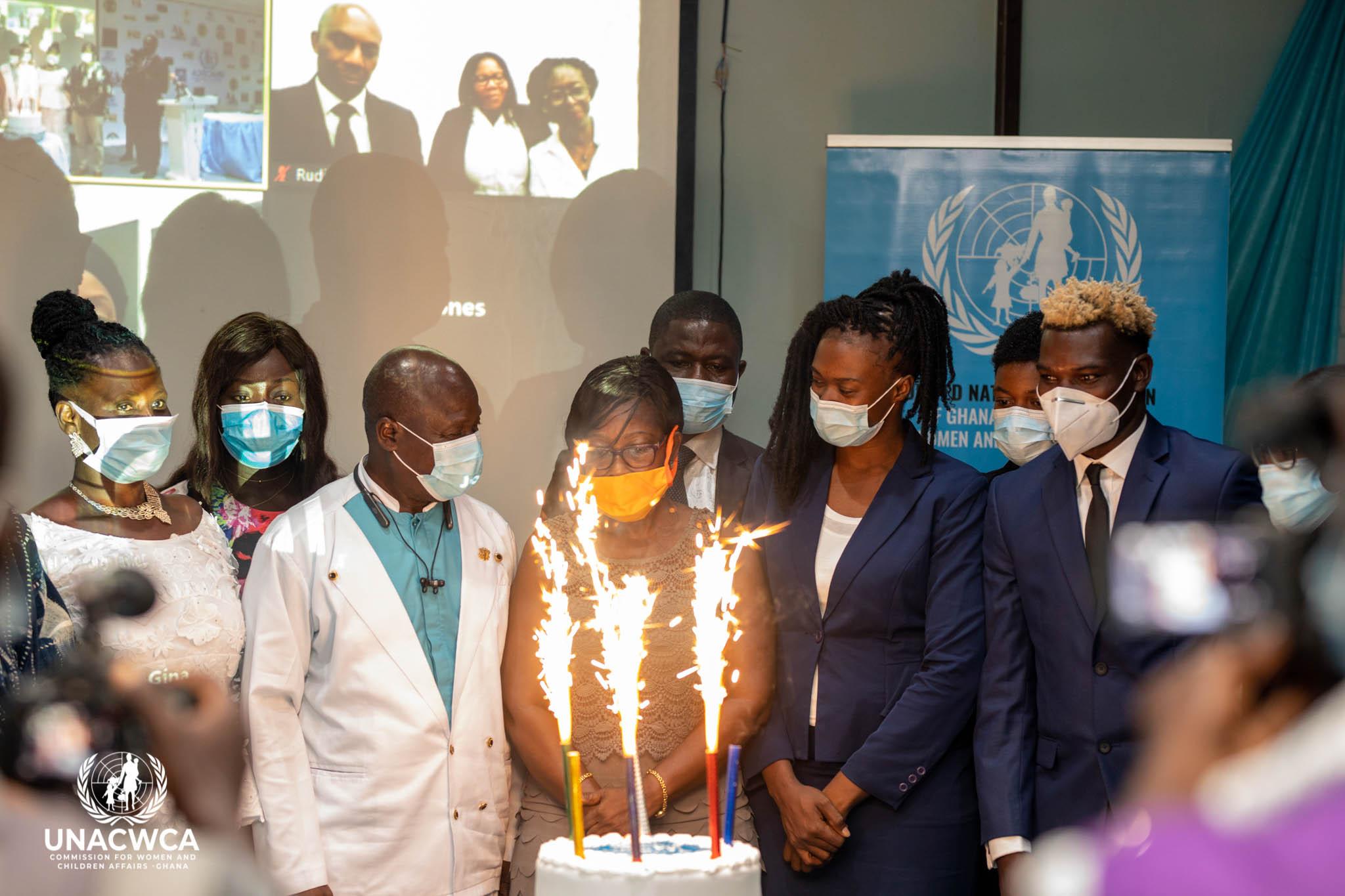 Speech under UNACWCA official launch